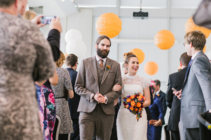 art gallery wedding in leeds